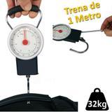 balança manual analogica com gancho para pesca bagagem 32 Kgs CBRN01477 - Commerce brasil