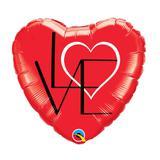 """Balão 18"""" Coração Amor Vermelho - Festabox"""