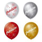 Balão Bexiga Decorada Parabéns Cintilante N 9 pct com 25 unid - São roque