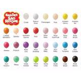 Balão Bexiga para Festa Numero 6,5 cores Sortidas pacote com 50 unid. - São roque
