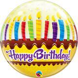 Balão Bubble Bolha Bolo de Aniversário - 1 unidade - Qualatex