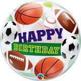 Balão Bubble Transparente Aniversário Bolas Esportivas - 1 unidade - Qualatex