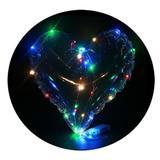 Balão Bubble Transparente  Modelo Coração com Led colorido - Hutz