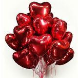 Balão coração metalizado vermelho 45 cm - Ydh