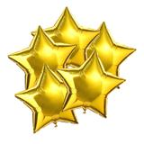 Balão de Estrela Metalizado Dourado Grande 18 Polegadas - Neoimp