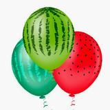 Balão de Látex Nº 9 Melancia c/25 unidades - Riberball