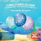 Balao Decorado N.090 Fundo do MAR - Sao roque