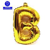Balão Gigante Letra B Dourado Metalizado 75 Cm - Festas  decor