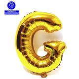 Balão Gigante Letra G Dourado Metalizado 75 Cm - Festas  decor