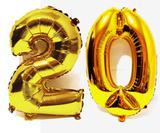 Balão Gigante Número 20  Dourado Metalizado Festas Decoração 75 Cm - Festas  decor