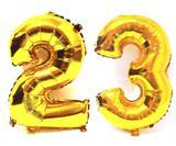 Balão Gigante Número 23  Dourado Metalizado Festas Decoração 75 Cm - Festas  decor