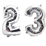 Balão Gigante Número 23  Prata Metalizado Festas Decoração 75 Cm - Festas  decor