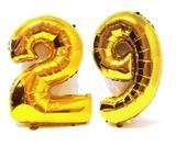 Balão Gigante Número 29 Dourado Metalizado Festas Decoração 75 Cm - Festas  decor