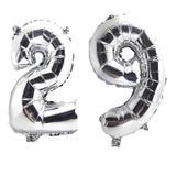Balão Gigante Número 29 Prata Metalizado Festas Decoração 75 Cm - Festas  decor