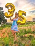 Balão Gigante Número 35 Dourado Metalizado Festas Decoração 75 Cm - Festas  decor