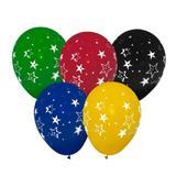 Balão Látex de Estrelas Coloridos n10 28cm 25 unidades Balloontech - Festabox