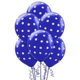 Balão Latéx Nº 10 - 25cm c/ 25 unidades Azul Celeste Poá Branco - Riberball