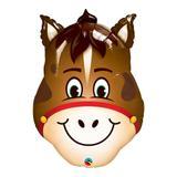 Balão metalizado 14 polegadas - cavalo engraçado - qualatex