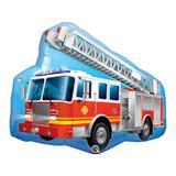 Balão metalizado 36 polegadas - caminhão de bombeiros vermelho - qualatex