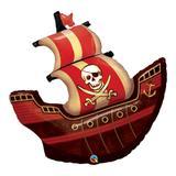 Balão metalizado 40 polegadas - navio pirata - qualatex