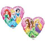 Balão Metalizado Coração Princesas - Mundo bizarro
