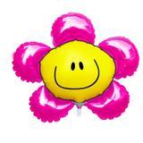 """Balão Metalizado Flor Smile Pink 9"""" - Flexmetal"""