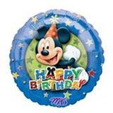 "Balão Metalizado Mickey Aniversário 18"" - Flexmetal"