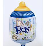 Balão Metalizado Mini Mamadeira Azul com Royal - Flexmetal