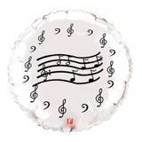 Balão Metalizado Notas Musicais Prata - Festabox