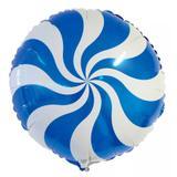 Balão Metalizado Pirulito Azul - Festabox