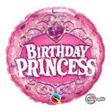 Balão metalizado redondo 18 polegadas - aniversário princesa - qualatex