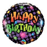 Balão metalizado redondo 18 polegadas - aniversário, quantos anos você tem - qualatex