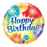 Balão metalizado redondo 18 polegadas - balões de aniversário azuis resplandecentes - qualatex