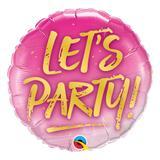 Balão metalizado redondo 18 polegadas - vamos festejar! - qualatex