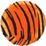 Balão Metalizado Redondo Safari Tigre - Flexmetal - Festabox