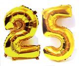 Balão Número 25 Gigante  Dourado Metalizado Festas Decoração 75 Cm - Festas  decor