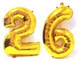 Balão Número 26 Gigante  Dourado Metalizado Festas Decoração 75 Cm - Festas  decor