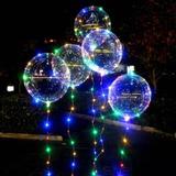 Balão Redondo Transparente com Led 1 unidade - Boo