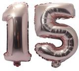 Balão Rose Gold Número 15 Gigante Metalizado 75 Cm 15 Anos - Festas  decor