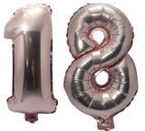 Balão Rose Gold Número 18 Gigante Festas Decoração 75 Cm - Festas  decor