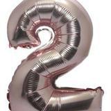 Balão Rose Gold Numero 2  Metalizado  40 Cm - Festas  decor