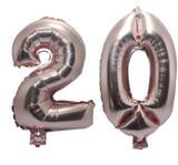 Balão Rose Gold Número 20  Gigante Festas Decoração 75 Cm - Festas  decor