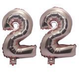 Balão Rose Gold Número 22  Gigante Festas Decoração 75 Cm - Festas  decor