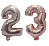 Balão Rose Gold Número 23  Gigante Festas Decoração 75 Cm - Festas  decor