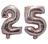 Balão Rose Gold Número 25 Gigante Festas Decoração 75 Cm - Festas  decor
