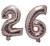 Balão Rose Gold Número 26 Gigante Festas Decoração 75 Cm - Festas  decor