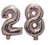 Balão Rose Gold Número  28  Gigante Festas Decoração 75 Cm - Festas  decor