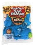 Balão São Roque Neon N9 C/25un Azul