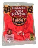 Balão São Roque Neon N9 C/25un Laranja Citrino