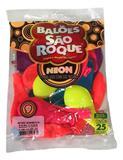 Balão São Roque Neon N9 C/25un Sortido